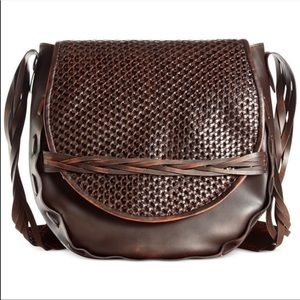 New Patricia Nash Firenze Woven Saddlebag Purse